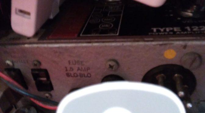 ライブ用のLeslie142はリモコン導入