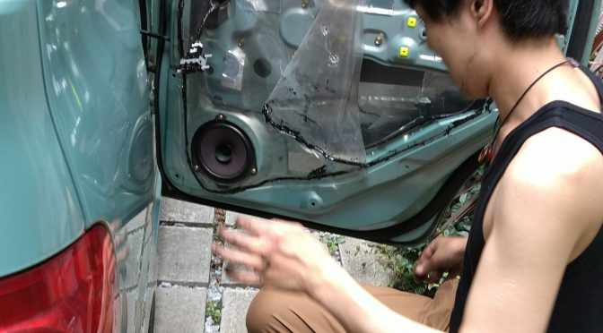 タントL350s リア右側ドアアクチュエーター交換