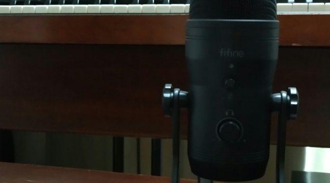 USBマイクFIFINE K690買ってみました。アンドロイドスマホでつかえるかな。AQUOS Sense3