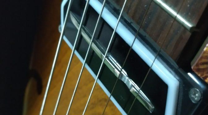 ギターピックアップの高さ調整してみました